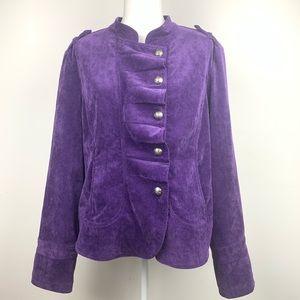 Live a Little corduroy jacket purple XL